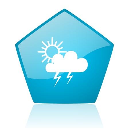 pentagon: weather forecast blue pentagon web glossy icon