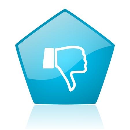 dislike blue pentagon web glossy icon  photo