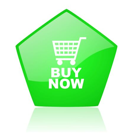 buy now green pentagon web glossy icon  photo