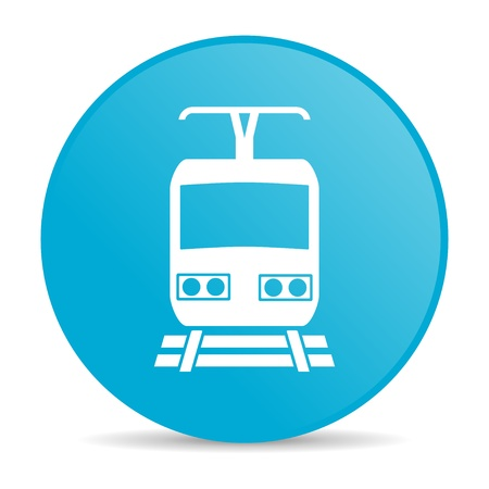 train blue circle web glossy icon  photo