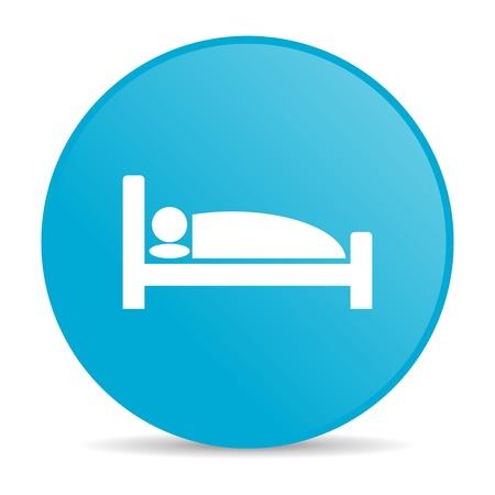hotel blue circle web glossy icon Stock Photo - 19227645