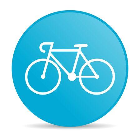 bicycle blue circle web glossy icon  photo