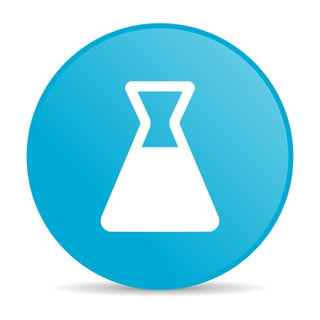 chemistry blue circle web glossy icon  photo