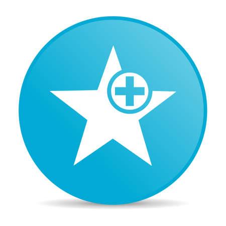 star blue circle web glossy icon Stock Photo - 19228087