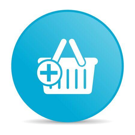 shopping cart blue circle web glossy icon  photo