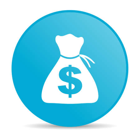 money blue circle web glossy icon  photo