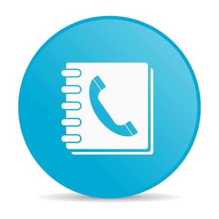 phonebook blue circle web glossy icon