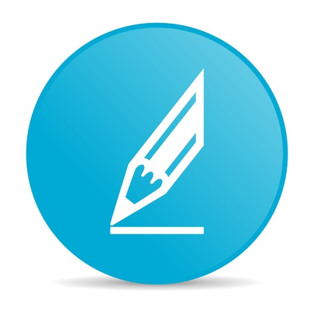 draw blue circle web glossy icon  photo