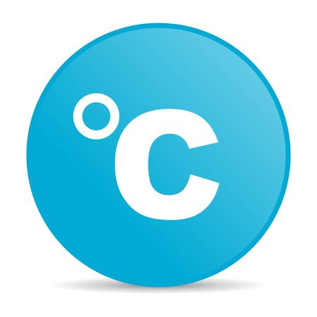 celsius: celsius blue circle web glossy icon  Stock Photo