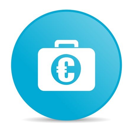 financial blue circle web glossy icon   photo