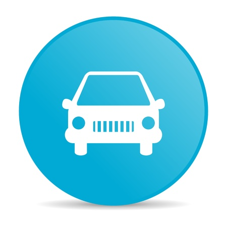 car blue circle web glossy icon  photo