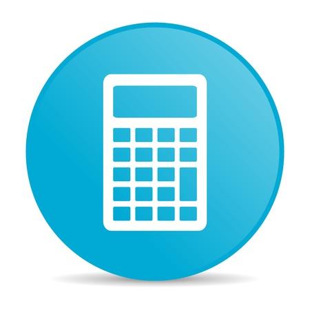 calculator blue circle web glossy icon Stock Photo - 19228167