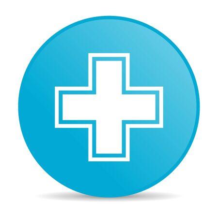 pharmacy blue circle web glossy icon  photo