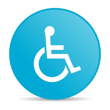 accessibility blue circle web glossy icon  photo