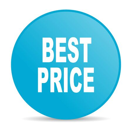 best price blue circle web glossy icon  photo