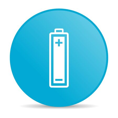 battery blue circle web glossy icon   photo