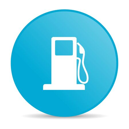 fuel blue circle web glossy icon Stock Photo - 19227678