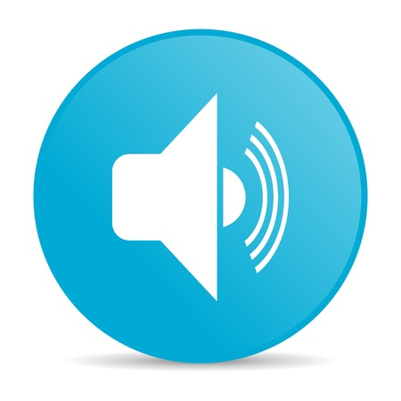 volume blue circle web glossy icon  photo