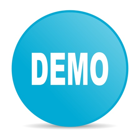 demo blue circle web glossy icon  photo