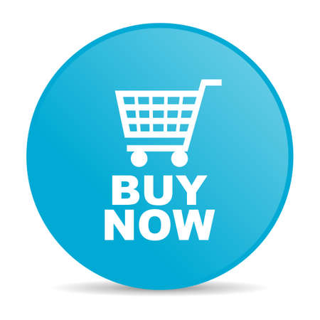 buy now: buy now blue circle web glossy icon