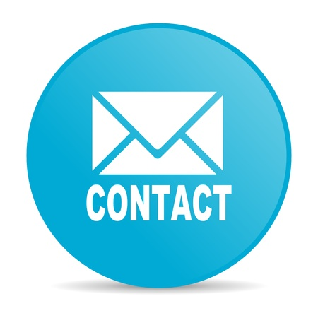 contact blue circle web glossy icon  photo