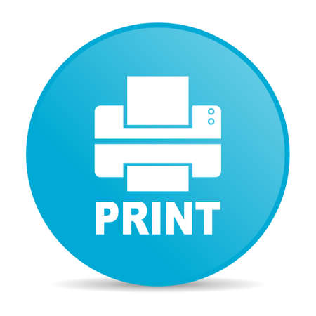 print blue circle web glossy icon  photo
