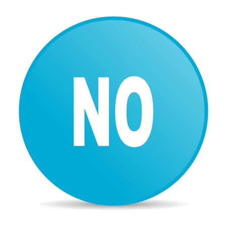 no blue circle web glossy icon