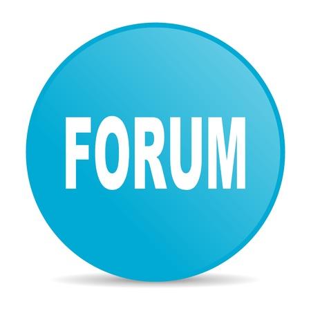 forum blue circle web glossy icon  photo
