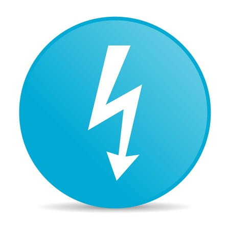 lightning blue circle web glossy icon  photo