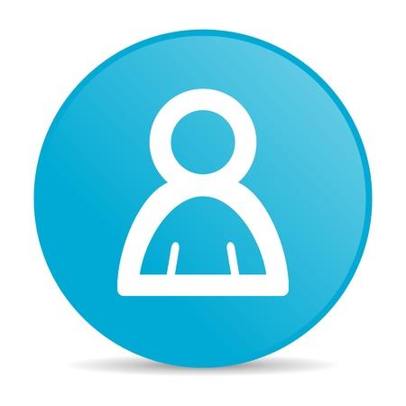 account blue circle web glossy icon Stock Photo - 19228057