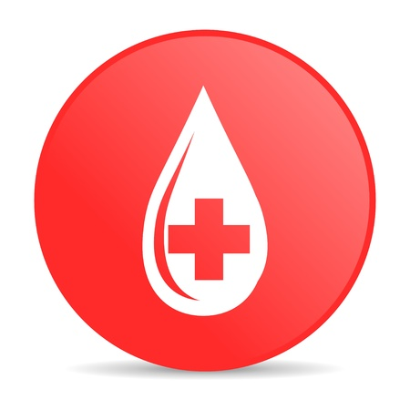 blood red circle web glossy icon  photo