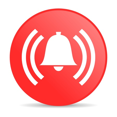 fire alarm: alarm red circle web glossy icon