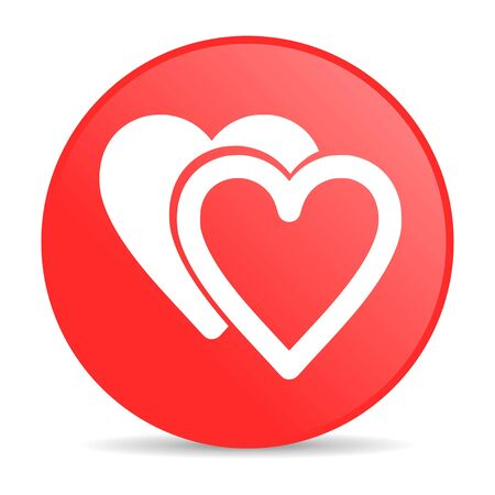 love red circle web glossy icon  photo