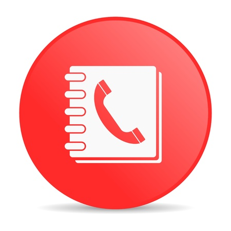 phonebook red circle web glossy icon  photo