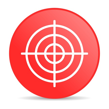 target red circle web glossy icon Stock Photo - 19228611