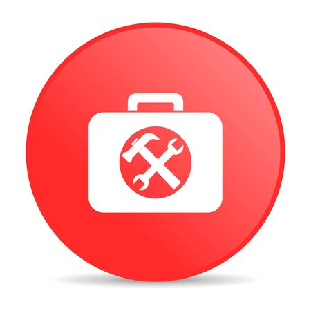 toolkit red circle web glossy icon  photo