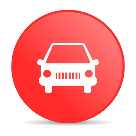 car red circle web glossy icon  photo