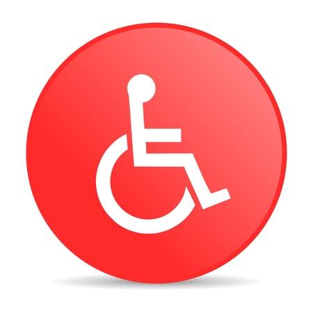 accessibilit�: accessibilit� cerchio rosso di icone web lucido