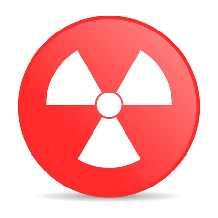 radiation red circle web glossy icon  photo