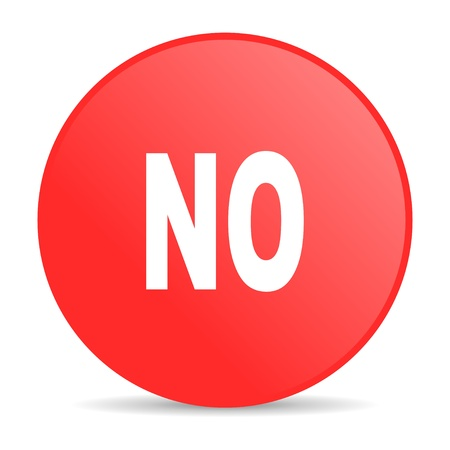 no red circle web glossy icon