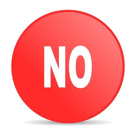 no red circle web glossy icon Stock Photo - 19252385