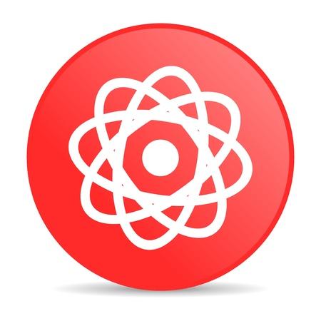 atom red circle web glossy icon Stock Photo - 19253418