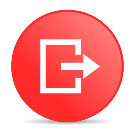 exit red circle web glossy icon Stock Photo - 19252365