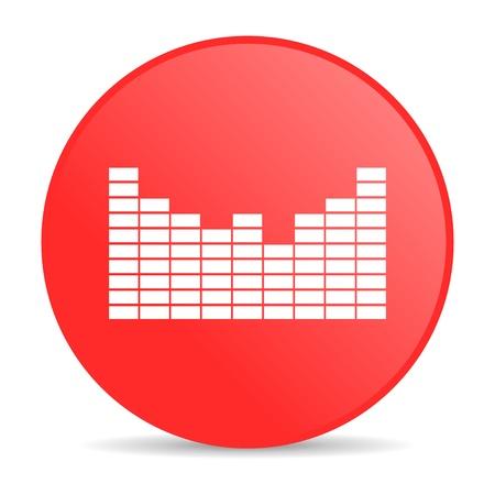 sound red circle web glossy icon  photo