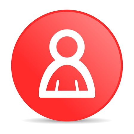 account red circle web glossy icon Stock Photo - 19253179