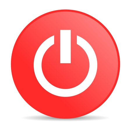 power red circle web glossy icon  photo