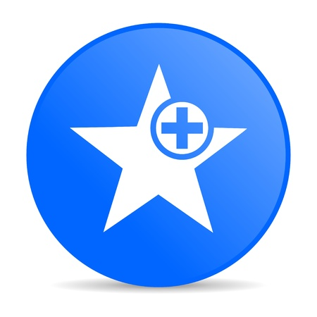 star blue circle web glossy icon  photo