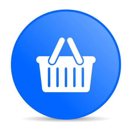 shopping cart blue circle web glossy icon Stock Photo - 19304860