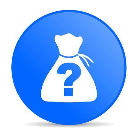 riddle blue circle web glossy icon  photo