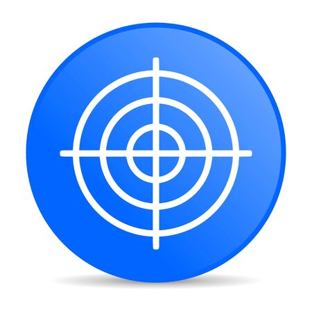 target blue circle web glossy icon  photo
